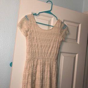 Creme colored dress